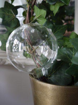 Bevattningskula i glas med dekor