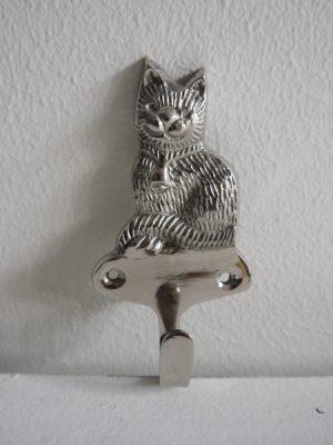 Katt krok i silver metall