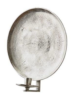 Väggljusstake ruff silver metall. Besök Blickfång.se