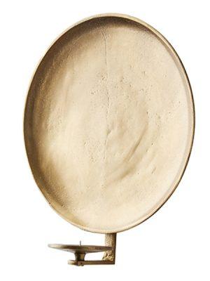 Vaggljusstake ruff guld metall