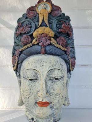Buddha huvud staty shabby chic. Besök blickfång.se