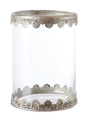 Ljuslykta glas och silver metall