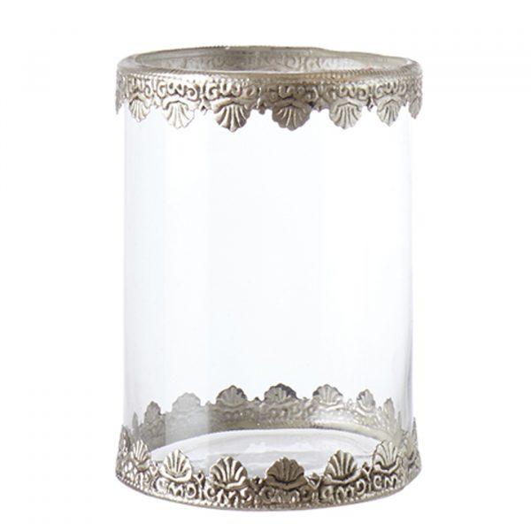 Ljuslykta-glas-och-silver-metall