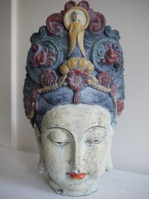 Buddha huvud staty shabby chic