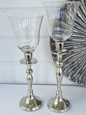 Glaskupa till ljusstake i klarglas. Besök Blickfång.se