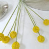 Konstgjord-gul-craspedia-blomma-2