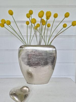 Konstgjord gul craspedia blomma. Besök blickfång.se