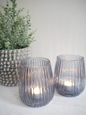Ljuslykta glas till stora värmeljus