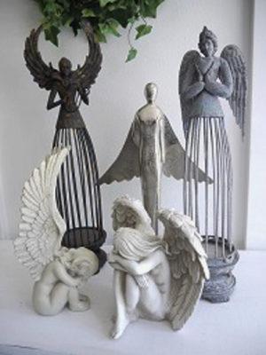 Ängel prydnad för inredning och dekoration. Besök Blickfång.se