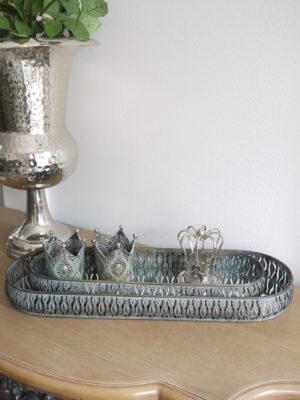 Ljusbricka avlång med spegelbotten. Besök Blickfång.se