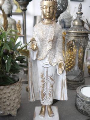 Buddha stående prydnadsfigur . Besök Blickfång.se
