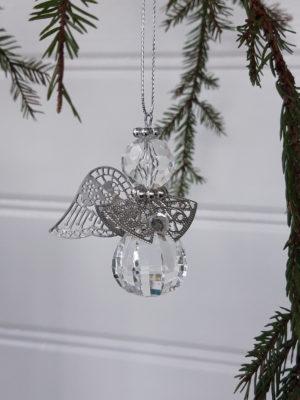 Liten fasettslipad ängel. Besök Blickfång.se
