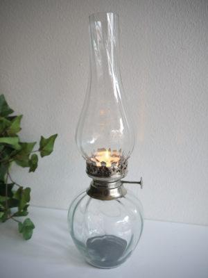 Oljelampa i glas till värmeljus. Besök Blickfång.se