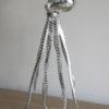 Bläckfisk prydnadsfigur i silver. Besök Blickfång.se