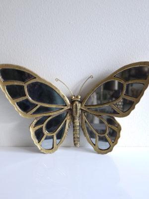 Fjäril liten spegel i guld. Besök Blickfång.se