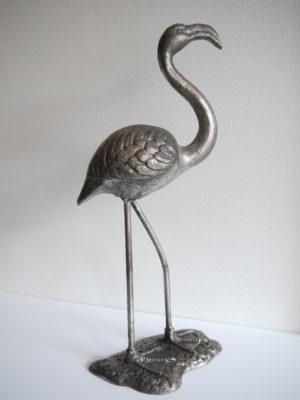 Flamingo dekorationsdjur i silver. Besök Blickfång.se