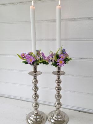 Ljusmanschett med blommor. Besök Blickfång.se