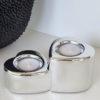Ljuslykta hjärtan i silver. Besök blickfang.se