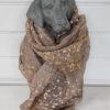 Beige scarf med guld och silver. Besök blickfång.se