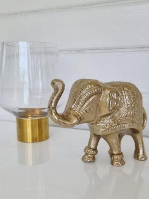 Dekoration elefant i metall. Besök Blickfång.se