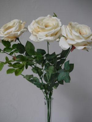 Lång konstgjord ros på stjälk. Besök blickfång.se