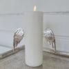 Ljussmycke änglavingar i silver. Besök Blickfång.se