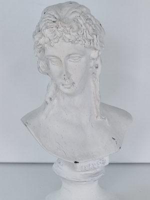 Roman Greek vit liten byst. Besök Blickfång.se