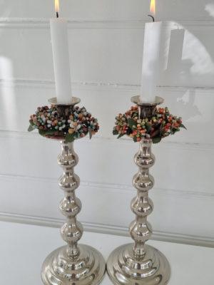 Stor ljusmanschett med pärlor . Besök Blickfång.se