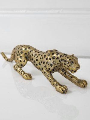 Leopard dekorationsdjur i guld. Besök blickfång.se