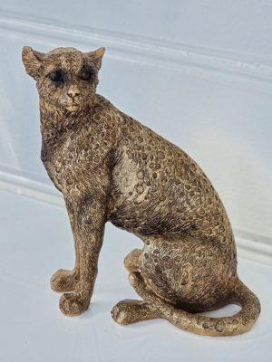 Panter djurfigur i guld. Besök Blickfång.se