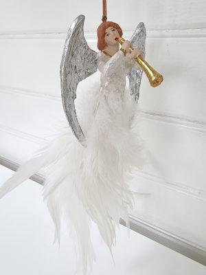 Ängel spelande trumpet hängprydnad