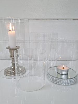 Glas cylinder utan botten. Besök Blickfång.se