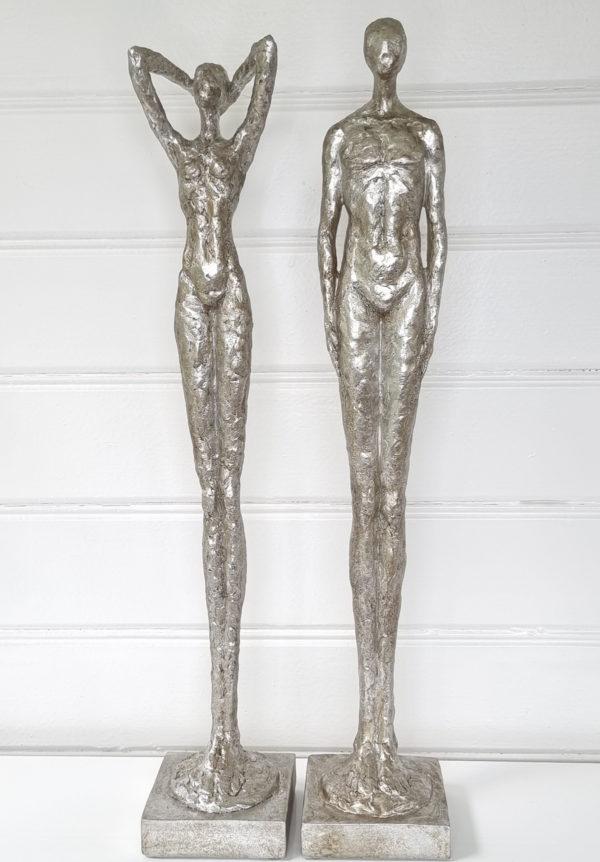 man-kvinna-figurer-i-silver