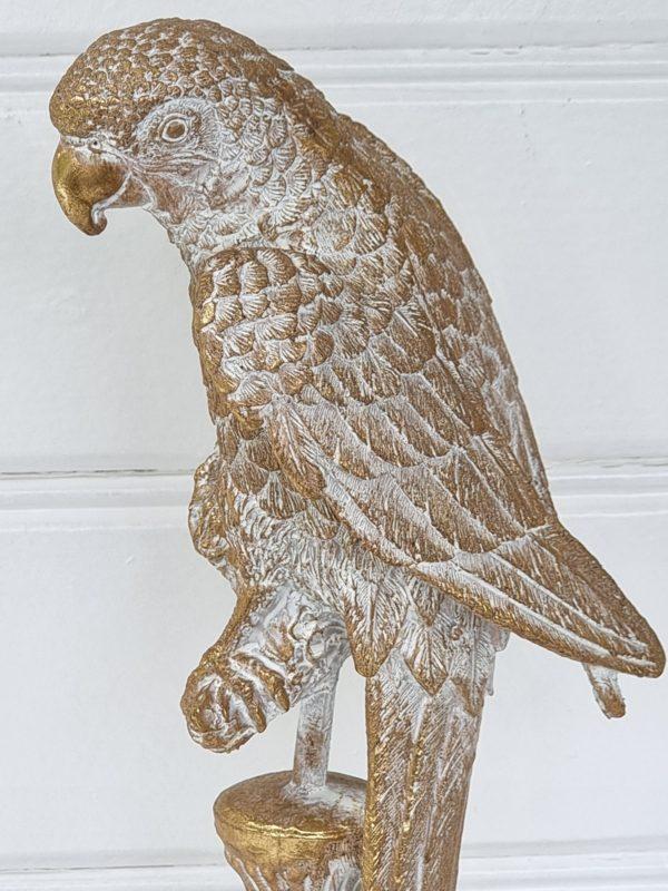 papegoja-dekorationsdjur-i-guld-1