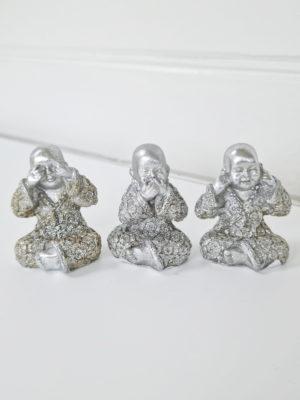 Buddha inte se höra och tala. Besök Blickfång.se