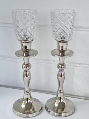 Glasklocka för värmeljus kristall. Besök Blickfång.se