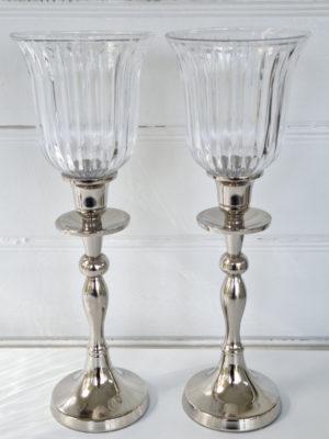 Ljushållare glas med ränder. Besök Blickfång.se